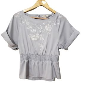 Banana Republic Floral Embroidered Blouse